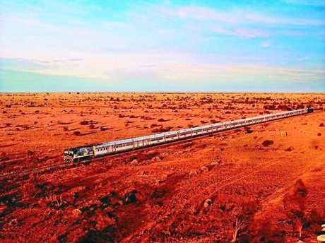 ALL ABOARD: Travelling on The Indian Pacific the views are breathtaking.