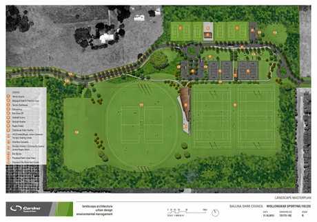 The Wollongbar Sporting Fields masterplan.