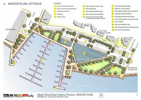 PLANS from the Martin Street Boat Harbour master plan.