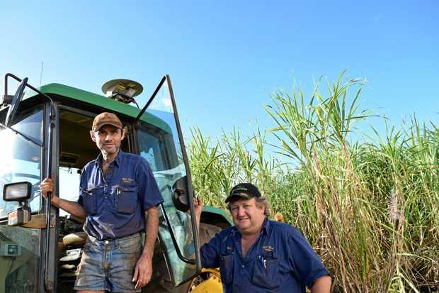 CRUSH: Fourth-generation cane farmers Brian and Mark Pressler. Photo: Eliza Goetze / Rural Weekly