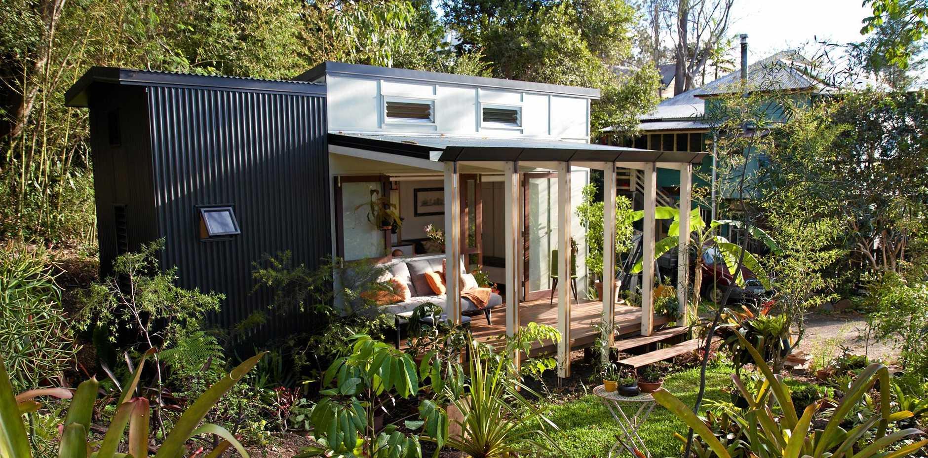 Lara Nobel's tiny home in inner-city Brisbane.