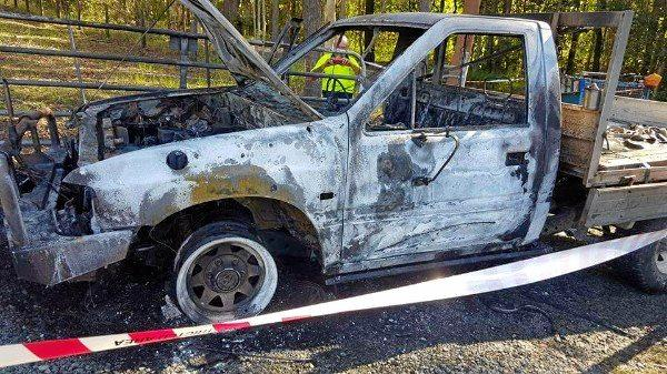 BURNT OUT: Handyman Rick Derrick was working at Caboolture when his ute, loaded up with tools, was stolen and set alight.