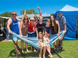 TRAVELLERS: The Prosser's and Hardwick's are just two of the families that have contributed to the massive 26% increase in caravaning and camping holidays.