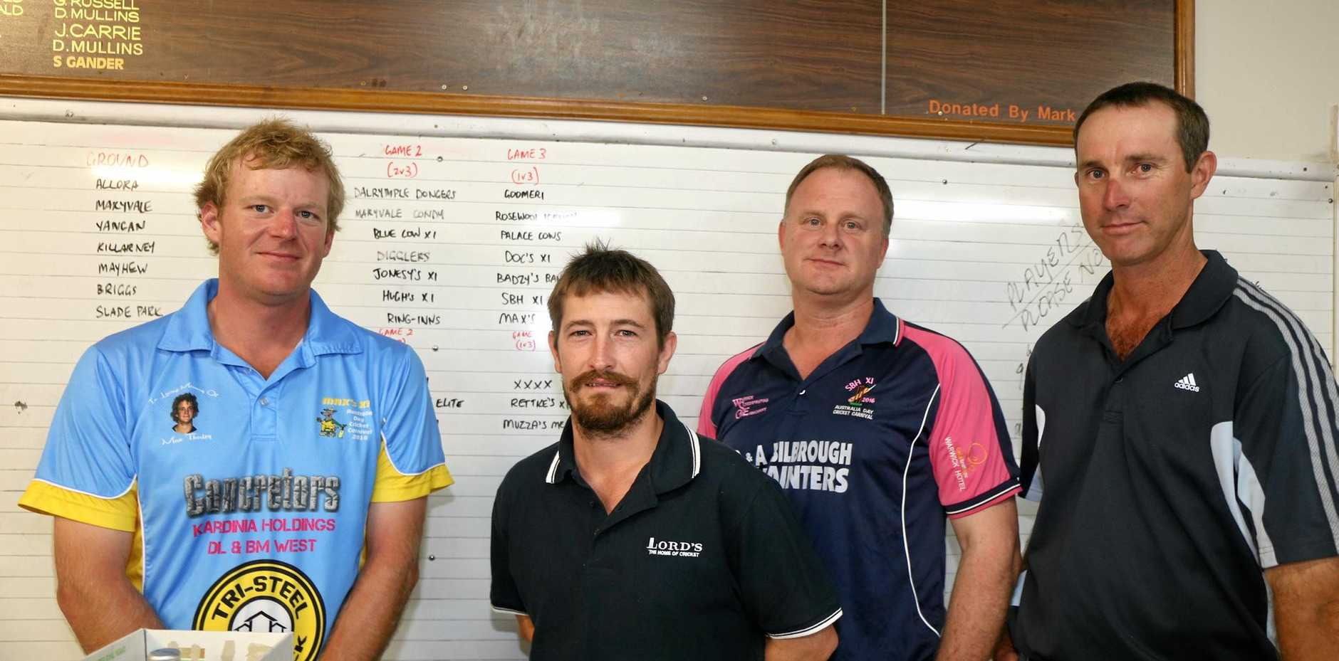 WCA carnival committee representatives include Geoff Thorley, Shaun O'Leary, Colin O'Brien and Chris Cantwell