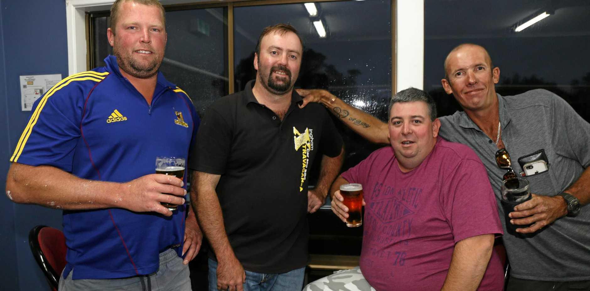Scott Beard, Ross Hemmings, Justin Brickley and Shaun Morrison from Muzza's XI.