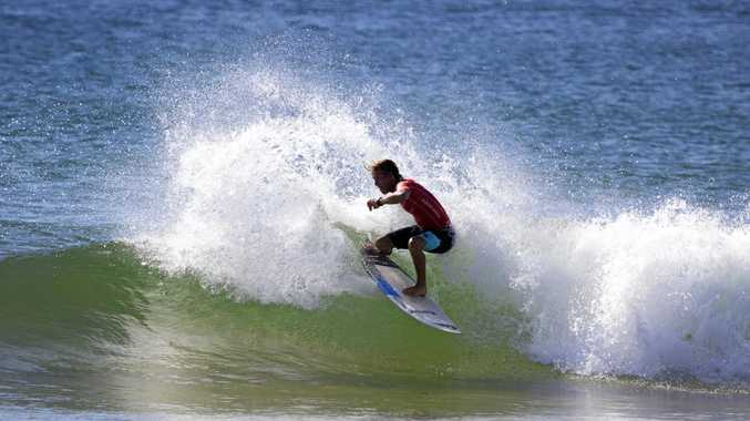 IN ACTION: Noah Stocca in the final of the under-16 boys division at North Narrabeen.