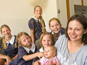 Six sisters back to school
