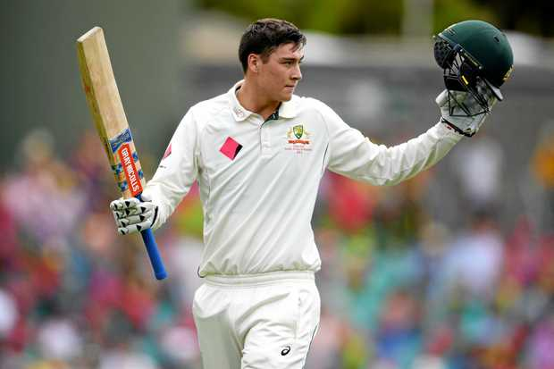 Matt Renshaw after making his hundred in the recent series against Pakistan.