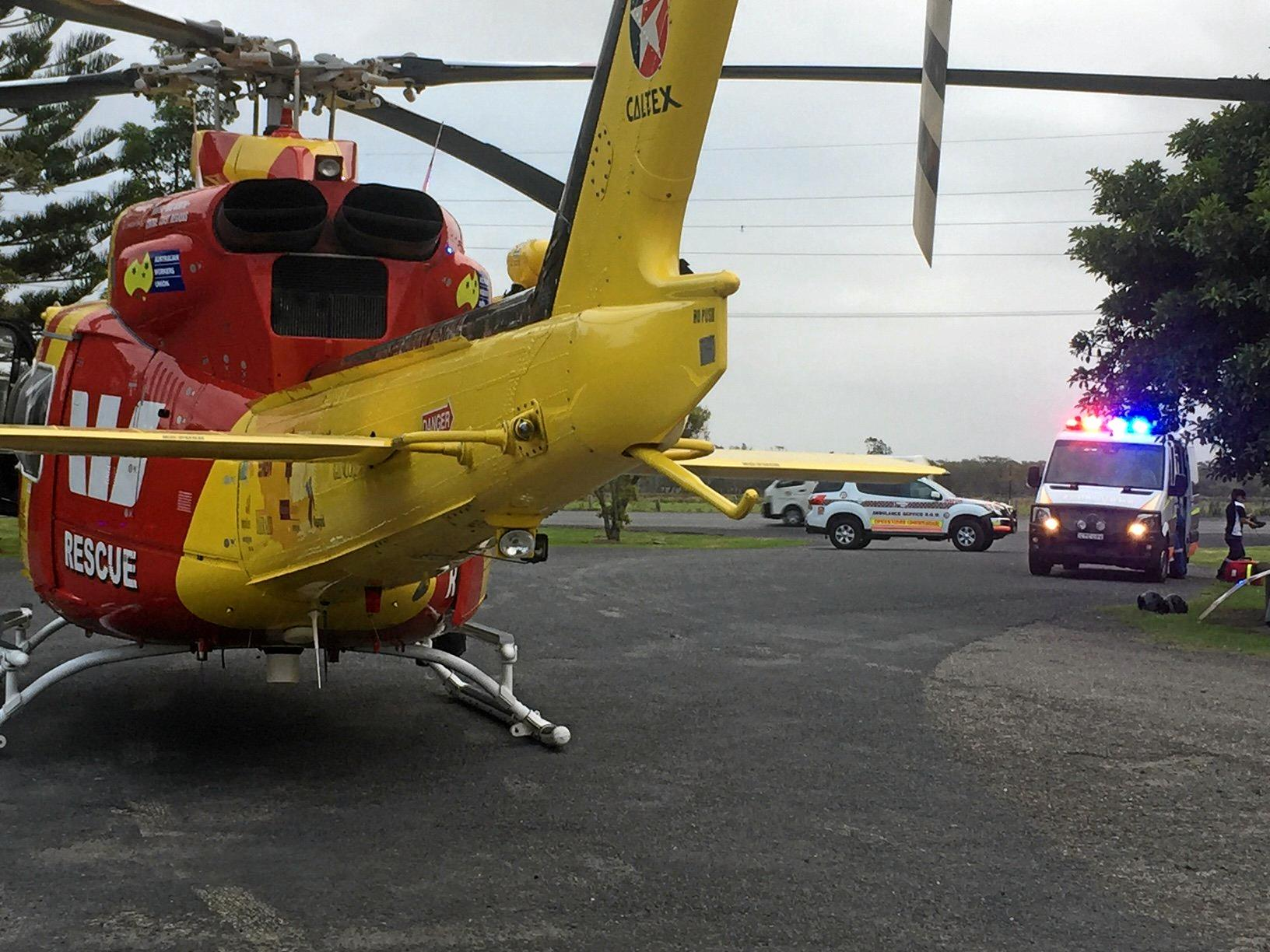 A teenage girl suffered spinal injuries in a bridge jumping incident at South West Rocks on Thursday evening.