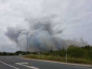 Motorway reopens as fire is contained
