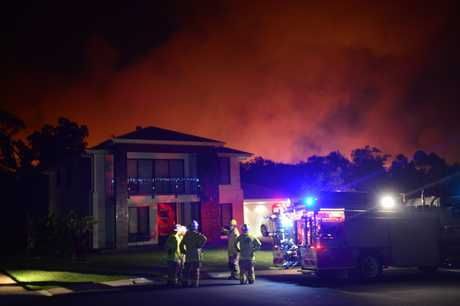 Emergency services on Sandhurst Cres, Peregian Springs