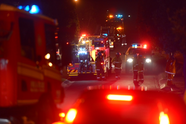 Emergency crews on Sandhurst Cres, Peregian Springs
