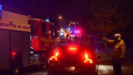 Emergency services on Sandhurst Cres, Peregian Springs