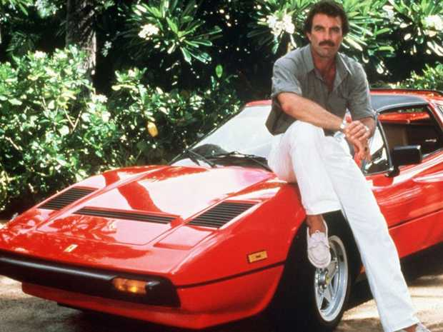 Tom Selleck in Magnum P.I. with his trusty 'side-kick' Ferrari.