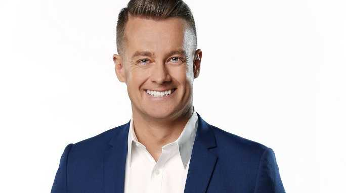 Grant Denyer... embarrassed after caught out on air.