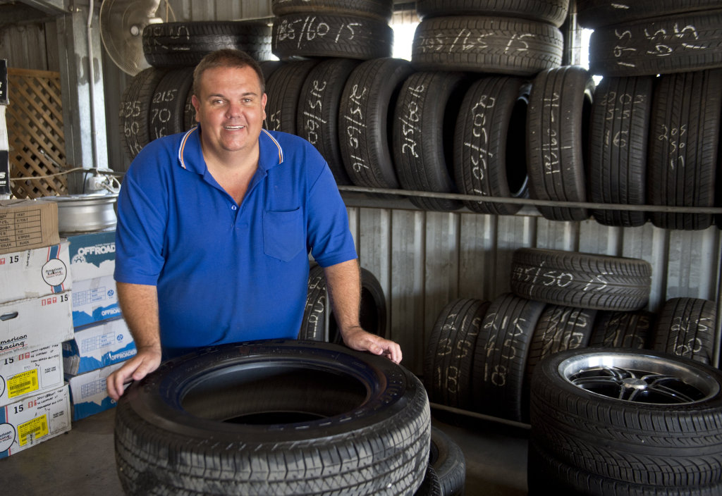 PAY IT FORWARD: Liebke Tyre Service owner Chris Liebke and group of strangers helped a woman who could not afford new tyres.