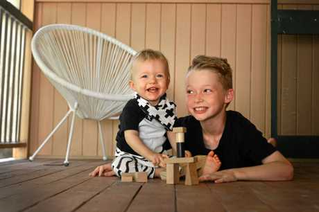 Nixon and Jamison Thornton, part of a family of six who have lived in tiny homes for about four years.