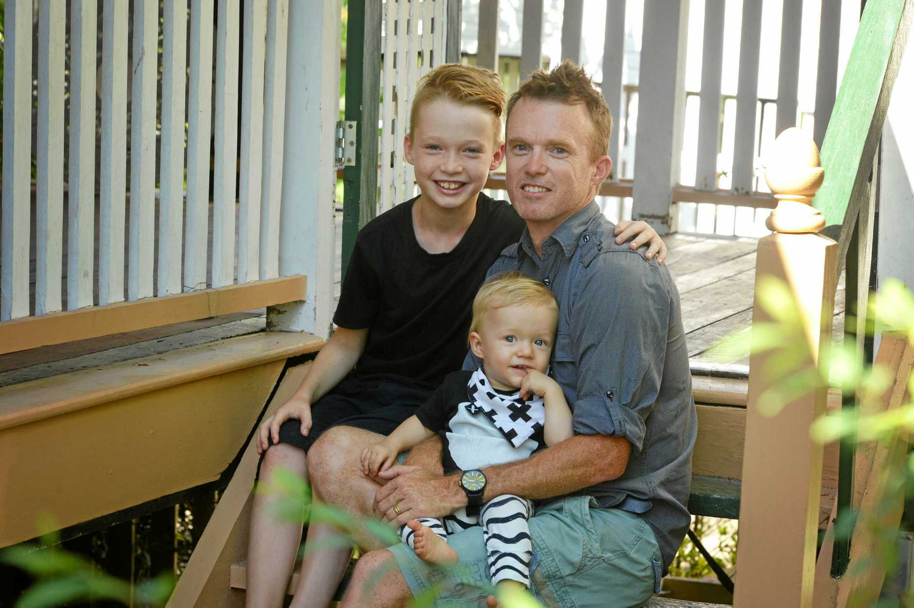 Jamison, Ben and baby Nixon Thornton, part of a family of six who have lived in tiny homes for about four years.