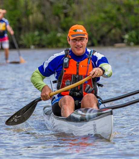 David Pavia who will paddle 160km from Tugun to Caloundra with Adam Scott.
