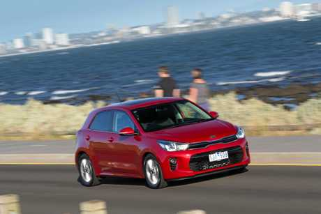 The range-topping 2017 Kia Rio SLi.