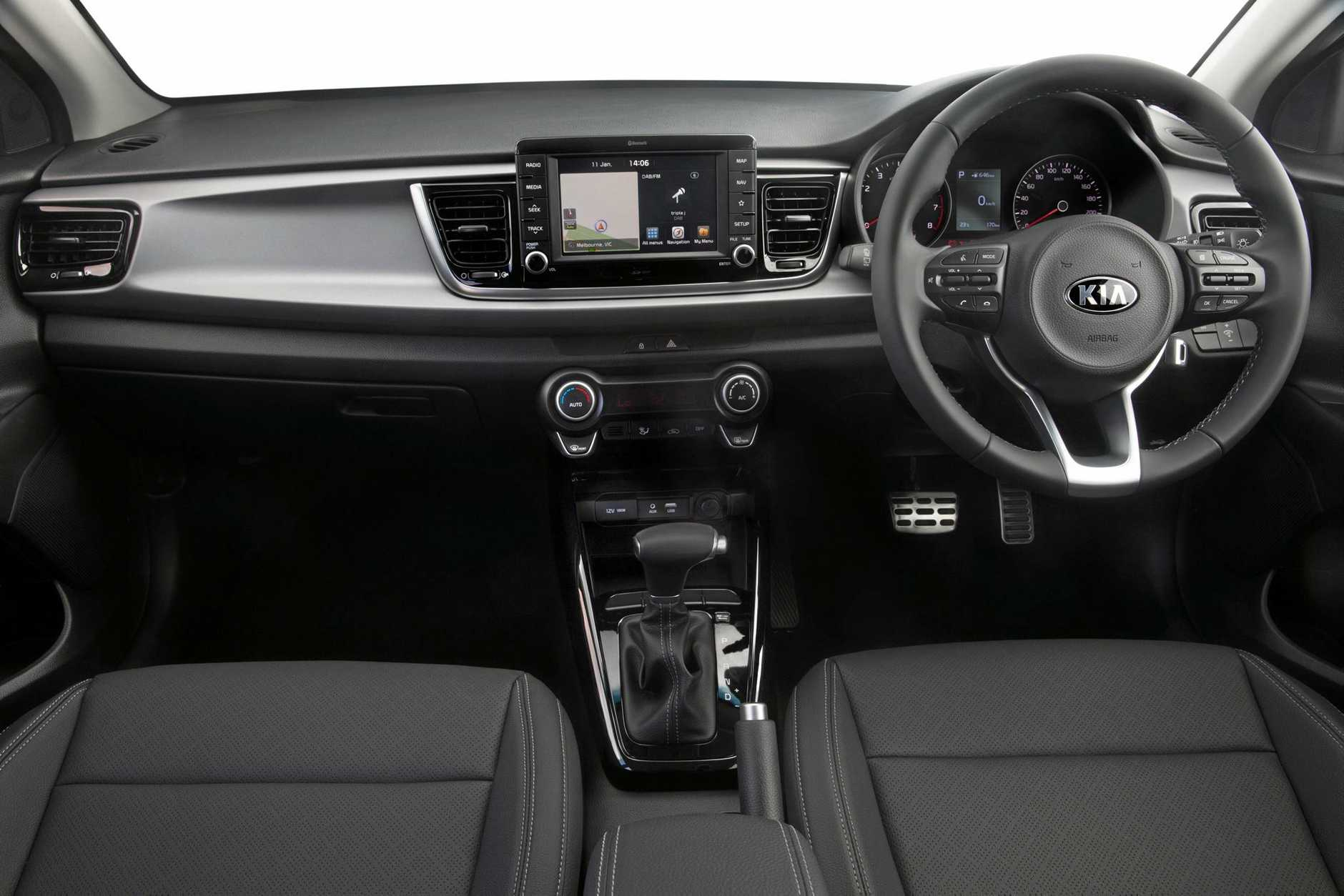 Inside the 2017 Kia Rio SLi.