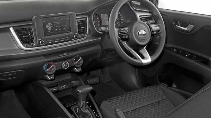 2017 Kia Rio S interior showing automatic transmission.