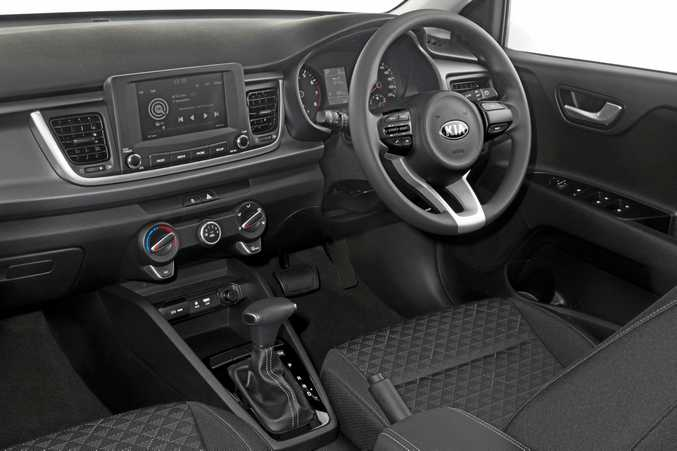 2017 Kia Rio S interior showing automatic transmission.