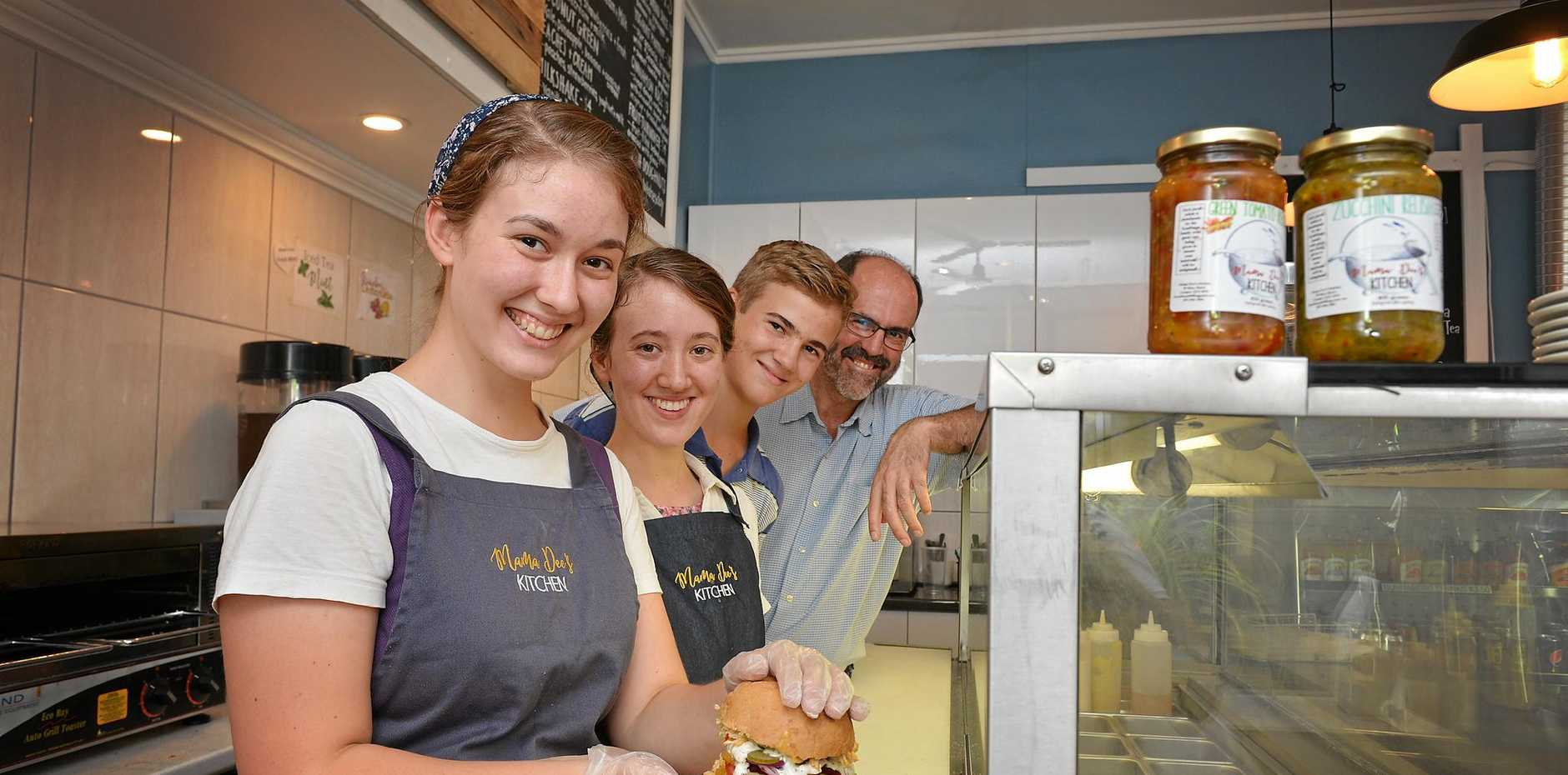 OUR FUTURE: BethAnn, Janae, Matthias and Jason Kauffman from new Mary St business Mamma Dee's Kitchen are part of the wave of young settlers moving to Gympie and helping diversify its economy.