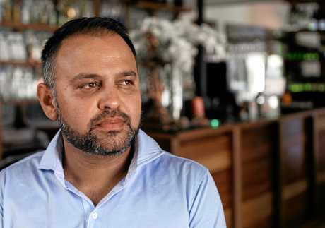 Indian Mehfil owner Raj Sharma was stunned by the brazen robbery .