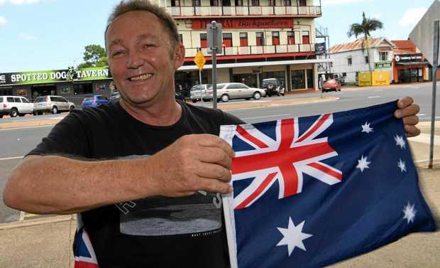 AUSTRALIA DAY: Former Hinkler Federal Labor candidate Tim Lawson.