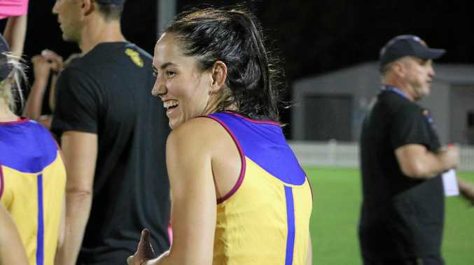 Brisbane Lions women's AFL player Sharni Webb.