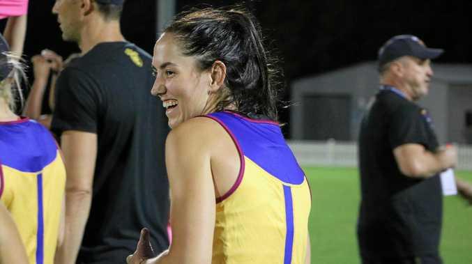 Brisbane Lions women's AFL player Sharni Webb.