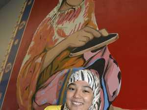 Rahila creates cultural mural in Toowoomba