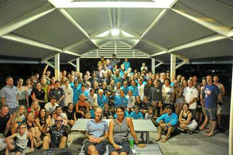 WE ARE MUDJIMBA: The nippers and their families on Thursday night.
