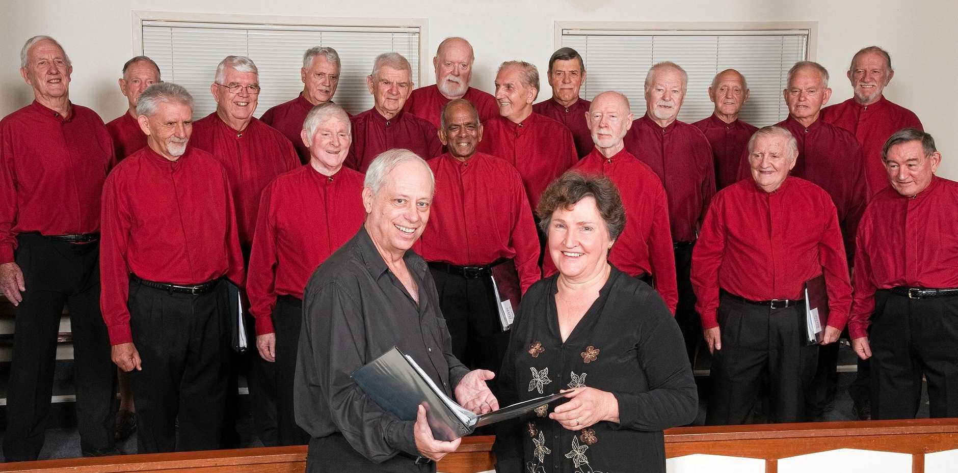 WARMING UP: The Buderim Male Choir.