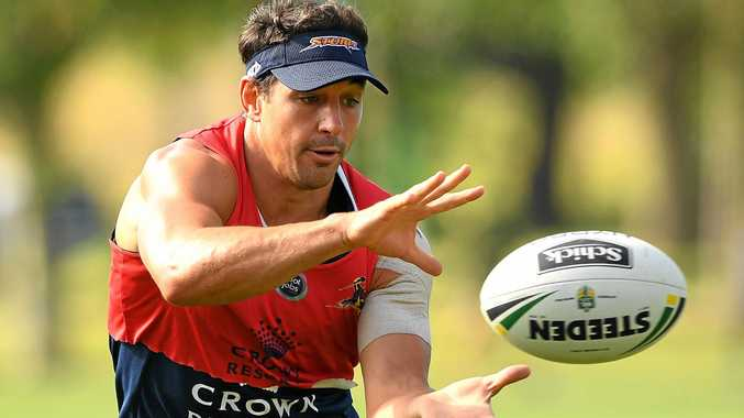 Billy Slater during a Melbourne Storm training session at Gosch's Paddock