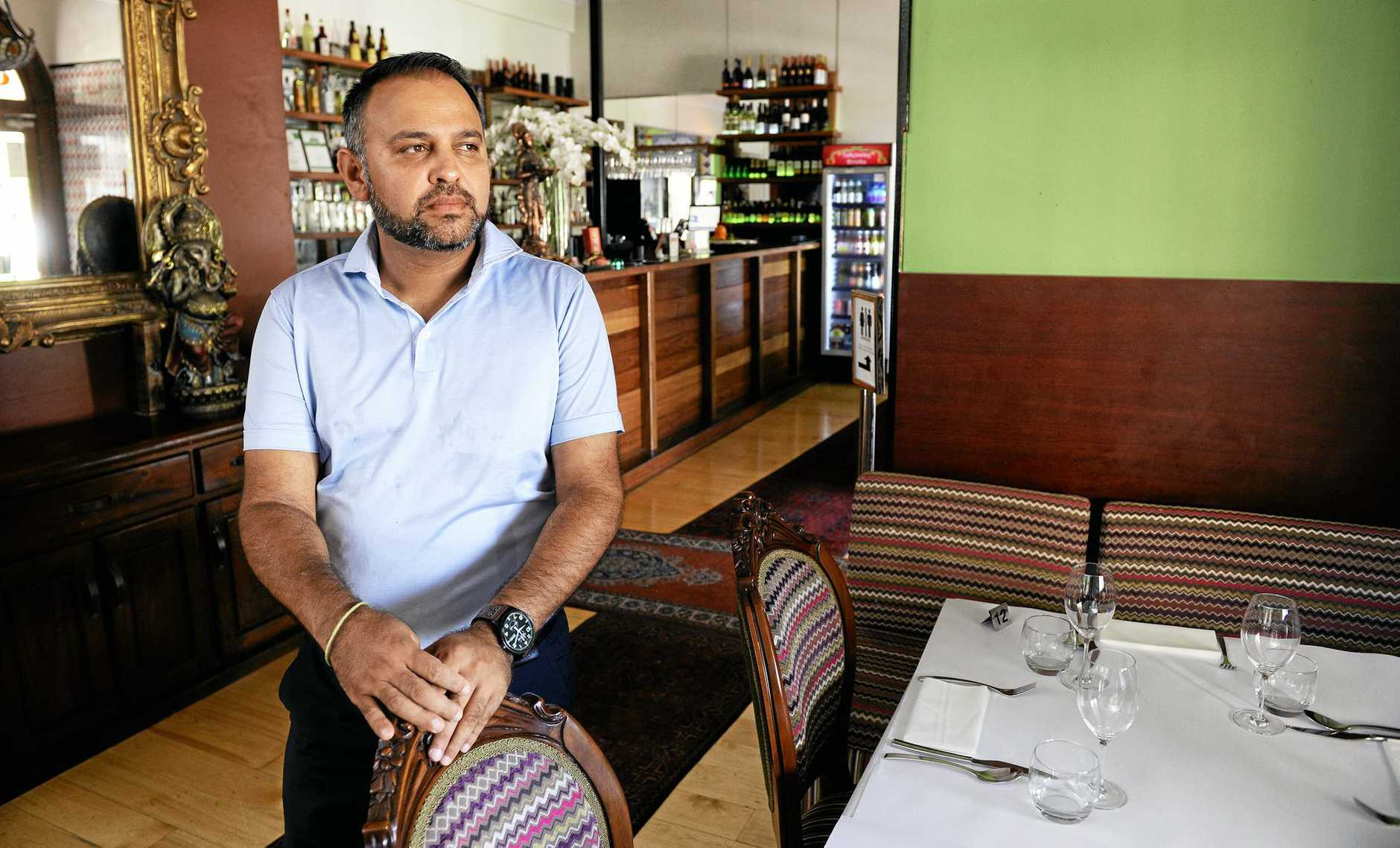FED UP: Indian Mehfil owner Raj Sharma is at at his lowest ebb after a thief stole $24,000.