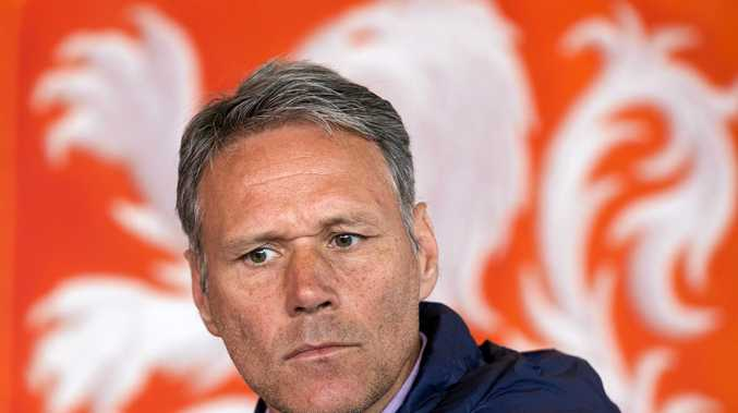 Former Dutch soccer star Marco van Basten, who is now a technical director at FIFA.