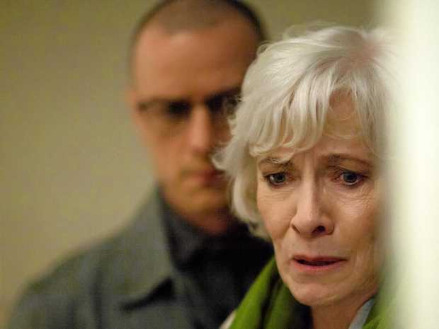 James McAvoy and Betty Buckley in a scene from the movie Split.