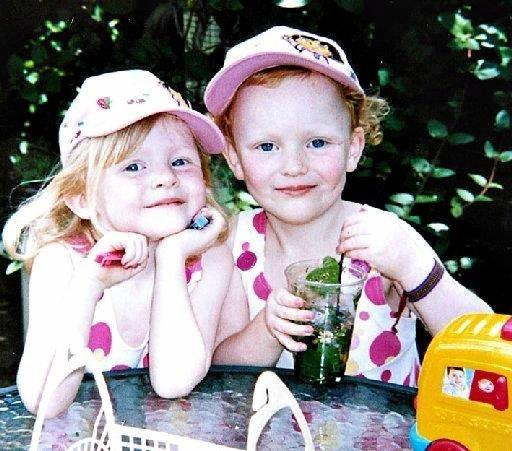 Five-year-old twins Grace and Jessica Hornby.