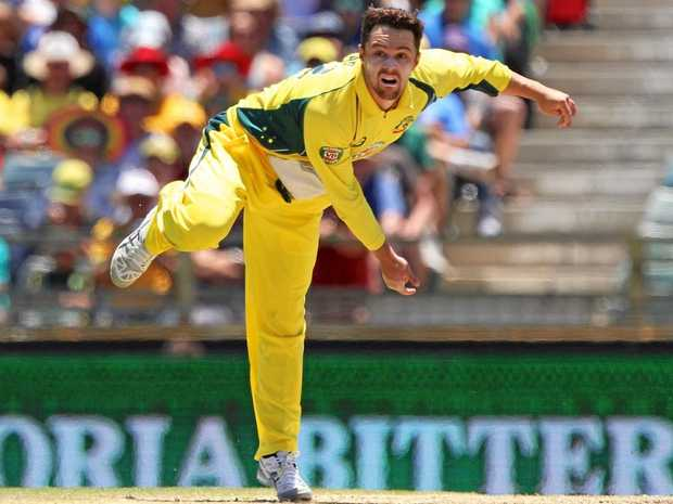 Travis Head of Australia bowls during the third ODI against Pakistan at the WACA.