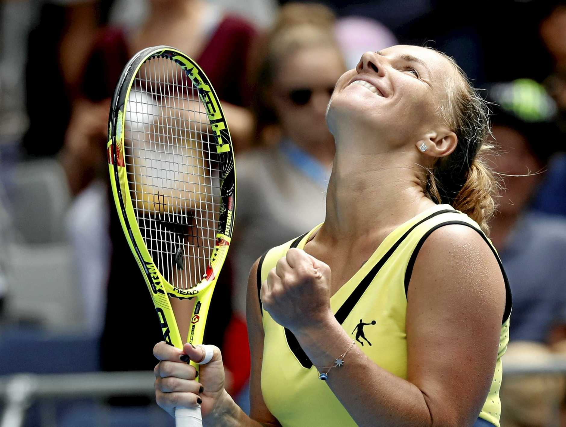 Svetlana Kuznetsova is through to the women's final. (AP Photo/Kin Cheung)