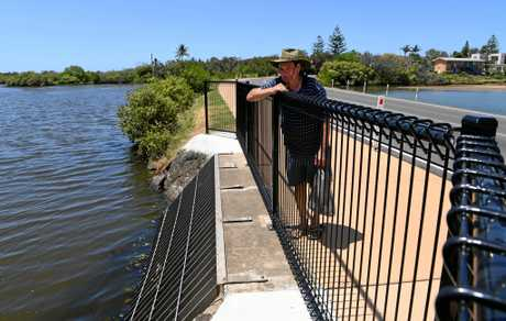 SWIMMING LAGOON CLOSED: Darryl Hampson says Moneys Creek is not being flushed out properly.