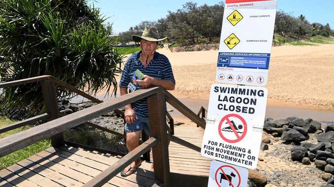 NO-GO ZONE: Darryl Hampson is concerned about water quality at Moneys Creek where he says animals are dying.