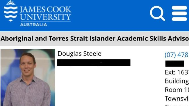 Douglas Steele's profile remained on the James Cook University website up until his sentencing on Monday. He pleaded guilty in September.
