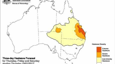 The Bureau of Meteorology predicted heatwave-like conditions for parts of the state in January.