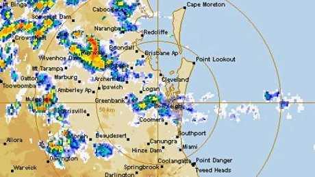 The BoM weather radar.