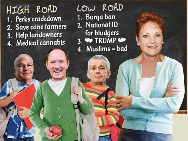 No need to choose - Pauline takes the high and low roads.