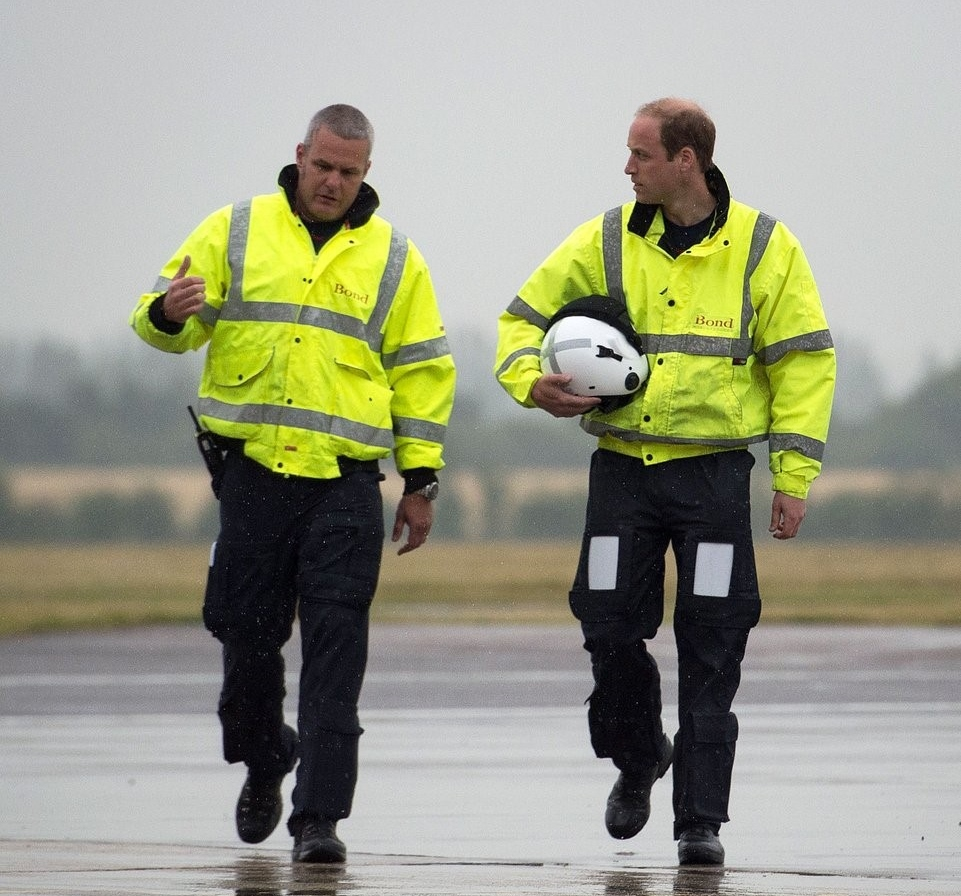 Prince William prepares to leave his helicopter job as increased royal duties beckon. Credit KensingtonRoyal Twitter.