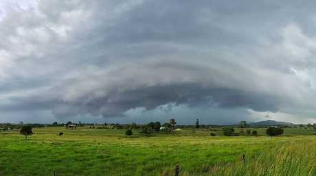 Kate Wall shared this photo to Higgins Storm Chasing's Facebook page. It shows the storm at Wanora in the Somerset region.